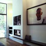 foyer et banc intégré